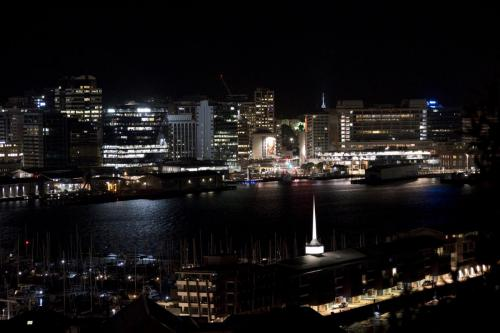 Nachtblick über Wellington
