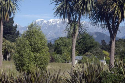 Neuseeland-Berge-Campingplatz
