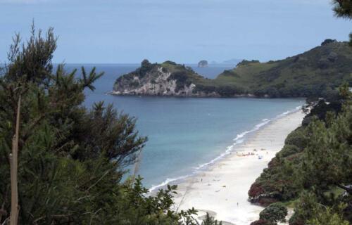 Neuseeland-Blick-Meer-Strand-Beach