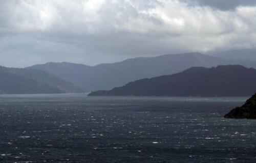 Neuseeland-Meer-Bewoelkt-Faehre