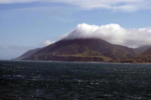 Neuseeland-Meer-Insel-Berg-Wolke
